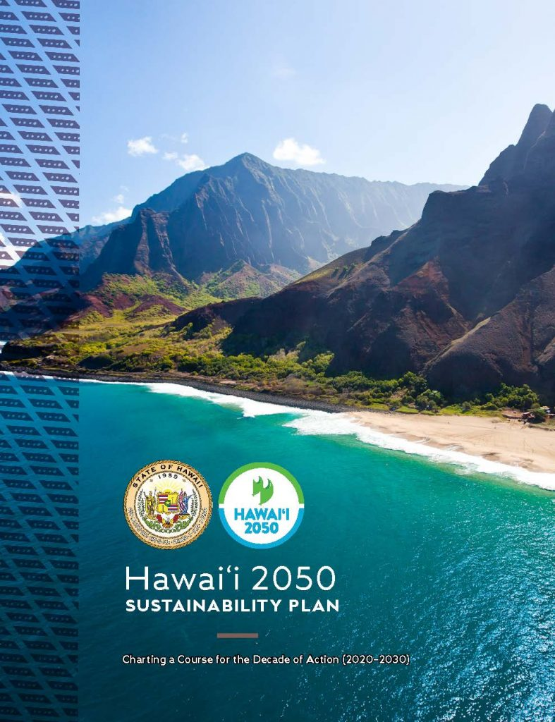 Photo of the Hawaii 2050 Sustainability Plan's Cover
